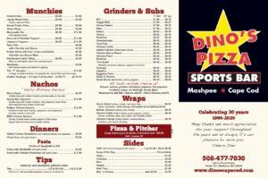 Dino's Sports Bar Menu